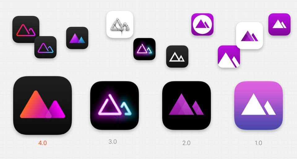 Darkroom App Icon Versions