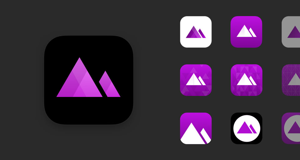 Darkroom App Icon Variations